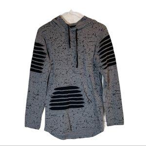 Carbon- dark gray and black slit thru design